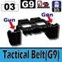 레고호환 벨트 -Tactical Belt(G9) [블랙]